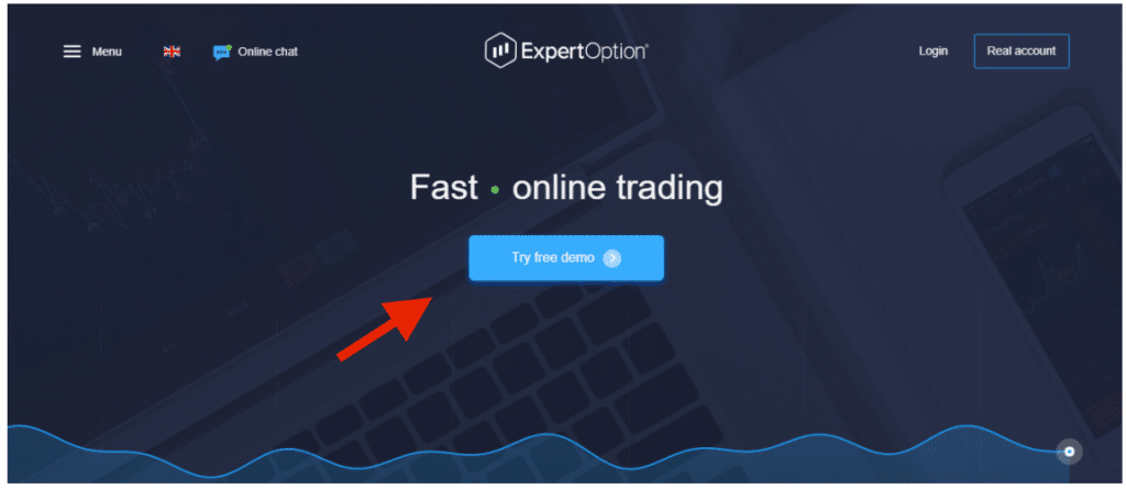 ExpertOption open demo account